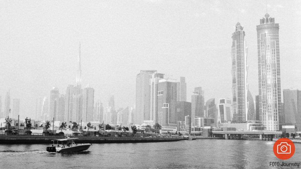 Boat Dubai Canal Lomo Earl Grey Mamiya 645