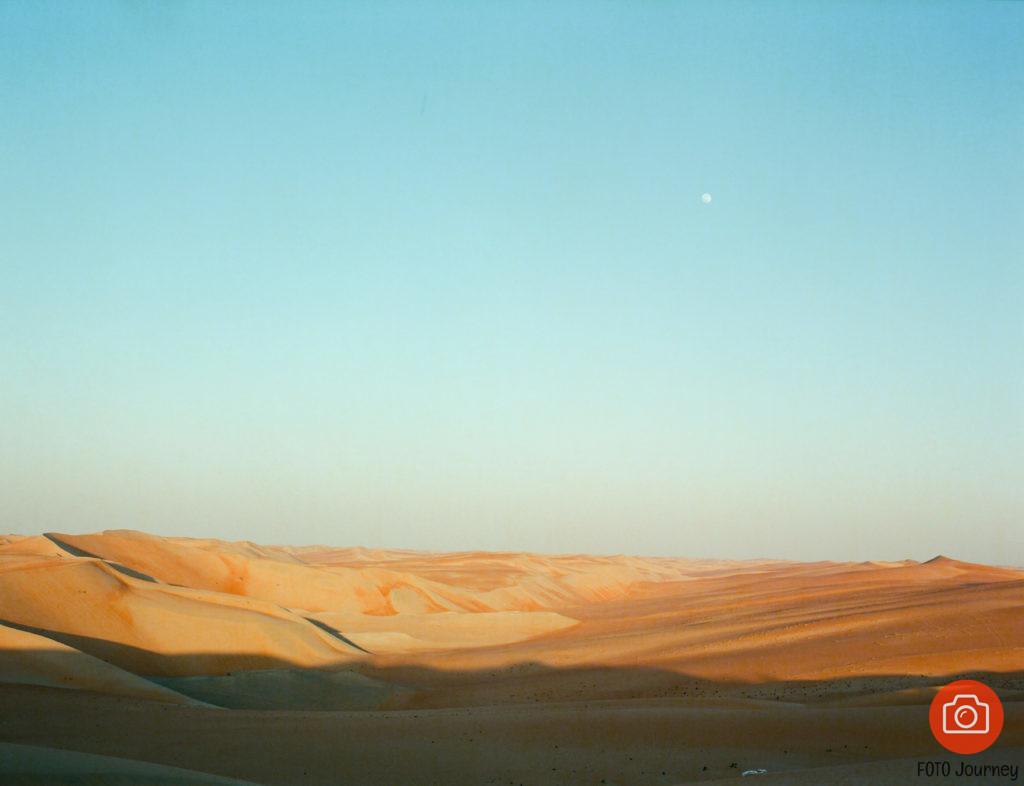 Sunset & MoonRise, Liwa Desert, Ektar 100 on Mamiay 645