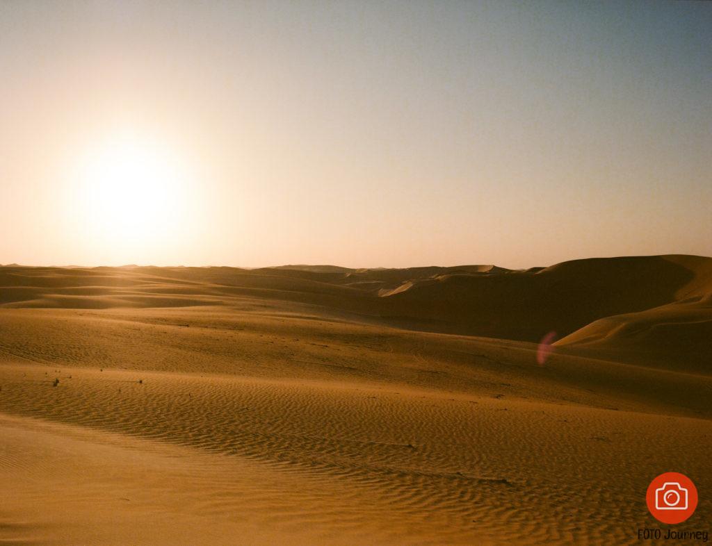 SunSet on emptyness, Liwa desert Ektar 100 with Mamiya 645