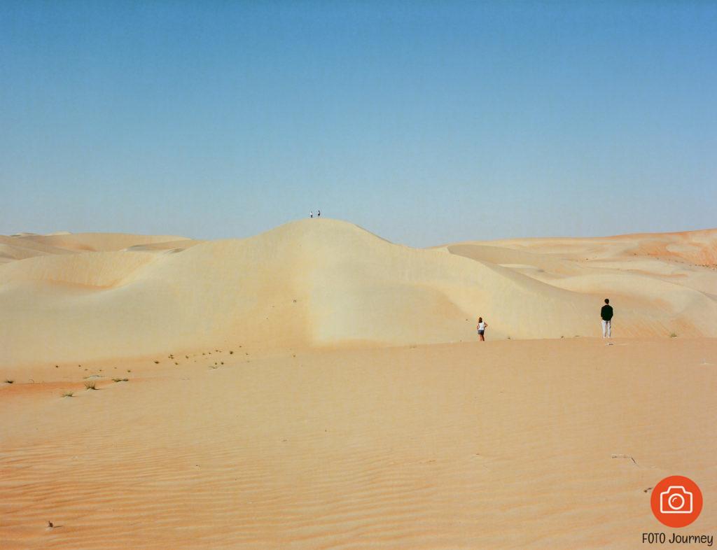 Exploring Liwa Desert, shot on Ektar 100 with a Mamiya 645
