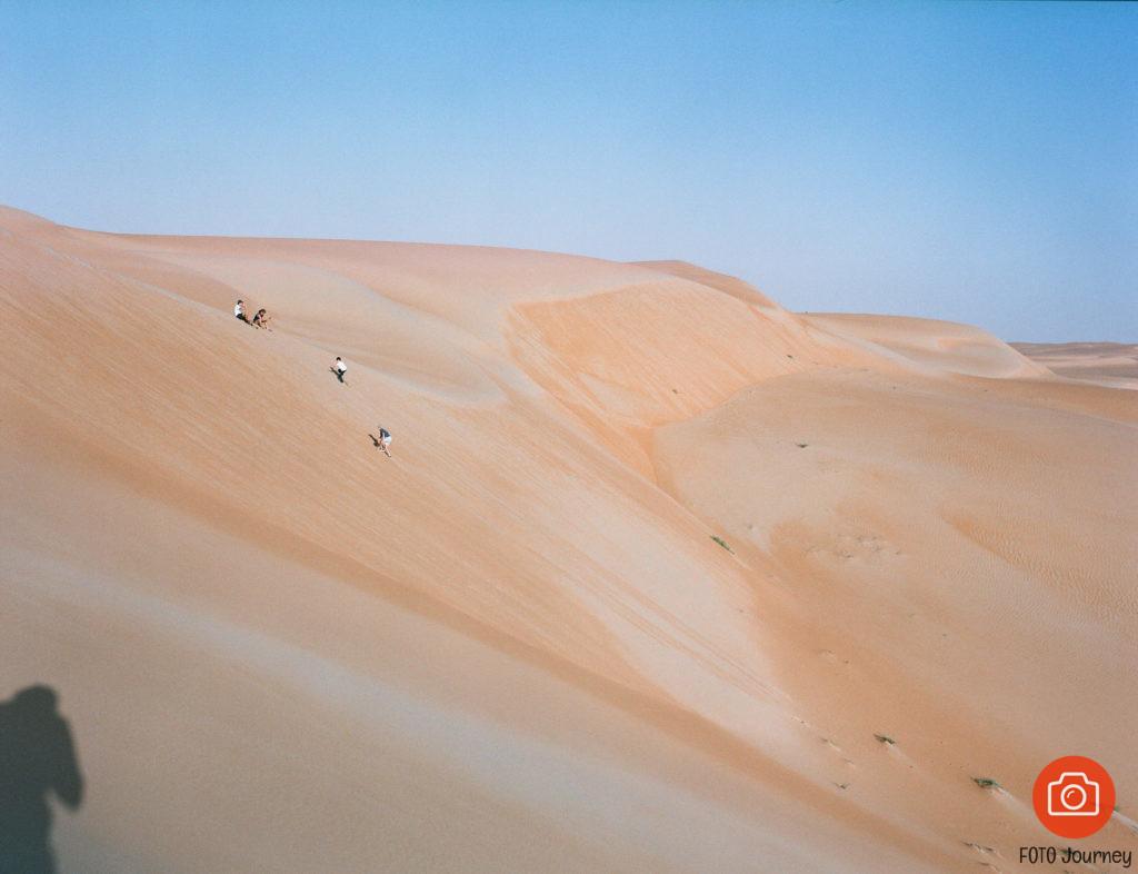 Escalating Dune, shot on expired Portra 400 NC, with a Mamiya 645